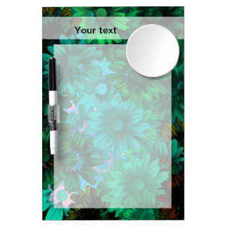 Green modern floral Dry-Erase whiteboard