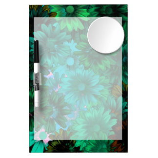Green modern floral Dry-Erase whiteboards