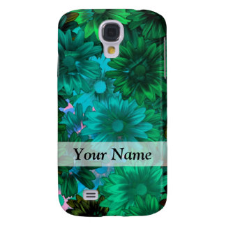 Green modern floral galaxy s4 case