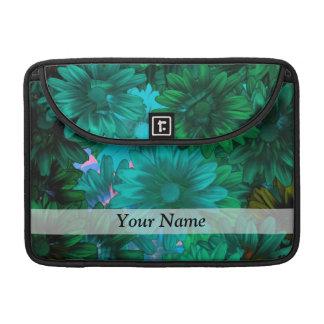 Green modern floral MacBook pro sleeves