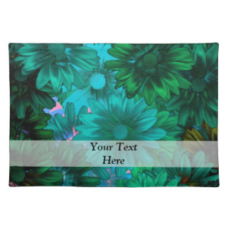 Green modern floral placemat