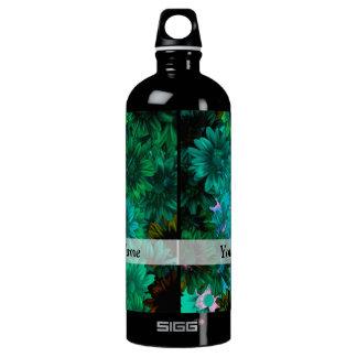 Green modern floral SIGG traveller 1.0L water bottle