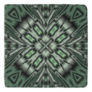 Green modern nice pattern trivet