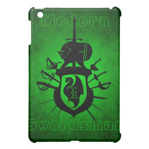 Green Modern Swordsman Dragon Crest  Cover For The iPad Mini