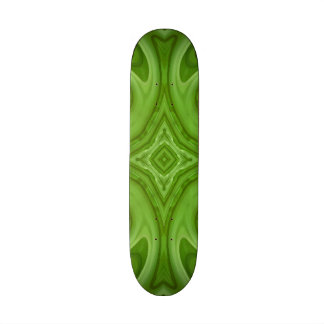 Green modern trendy art skate boards