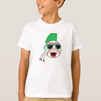 Green mohawk baseball T-Shirt