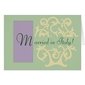 Green Monogram Cards