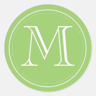 Green Monogram Envelope Seal by Origami Prints