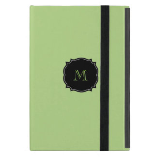 Green Monogram iPad Mini Case