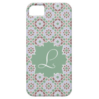 Green Monograma clearly with tile mosaic 7 Case For The iPhone 5
