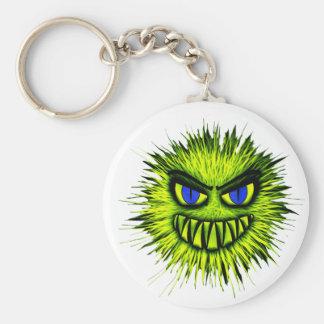 Green Monster Basic Round Button Key Ring