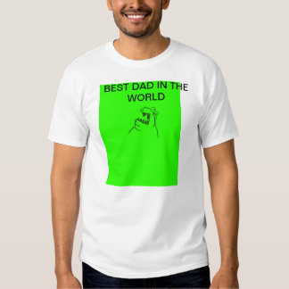 Green Monster BEST DAD IN THE WORLD Large T-Shirt
