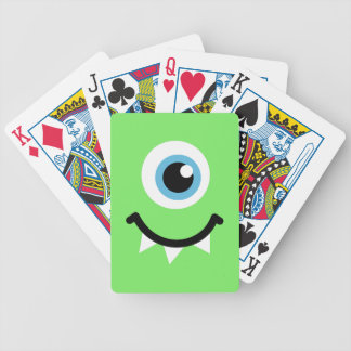 Green monster bicycle card decks