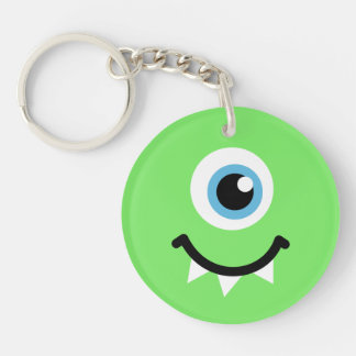 Green monster Double-Sided round acrylic key ring