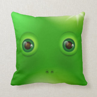 Green Monster face Cushion