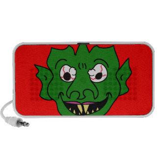 Green Monster Head Notebook Speakers