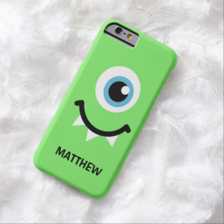 Green monster personalized name iPhone 6 case