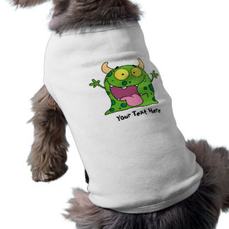 Green Monster (personalized) Sleeveless Dog Shirt