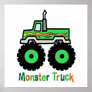 Green Monster Truck Poster