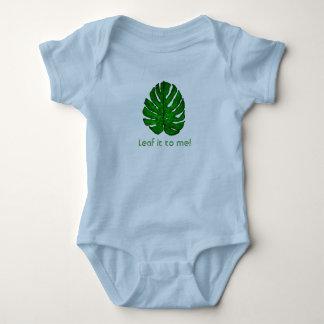 Green Monstera Leaf Bodysuit