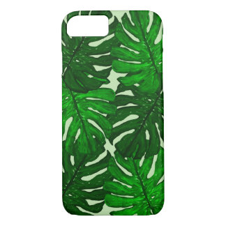 Green Monstera Leaf iPhone Case