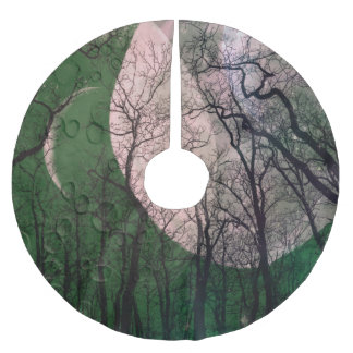 green moon forest customize color tree skirt brushed polyester tree skirt