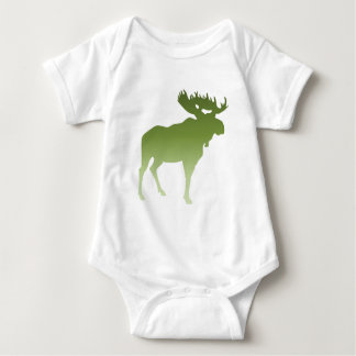 Green Moose Baby Bodysuit