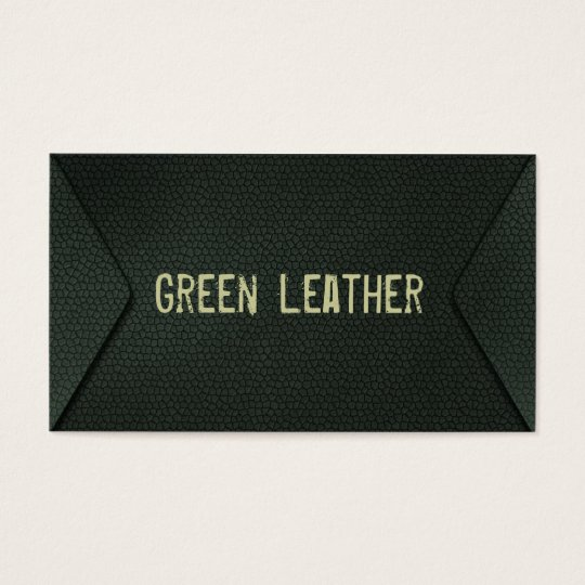 green more leather business card