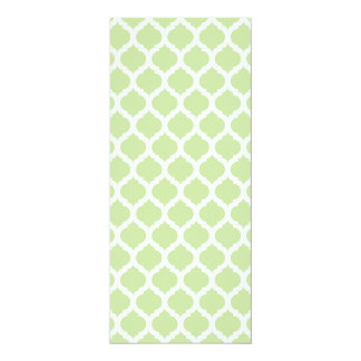 Green Moroccan Pattern Wedding Menus 4x9.25 Paper Invitation Card