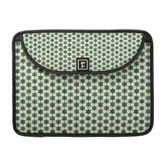 Green Moroccan Star Pattern Sleeve For MacBooks