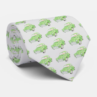 Green Morris Minor Car Men's tie