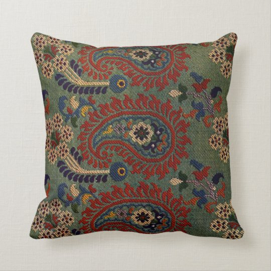 Green morrocan Rug Cushion