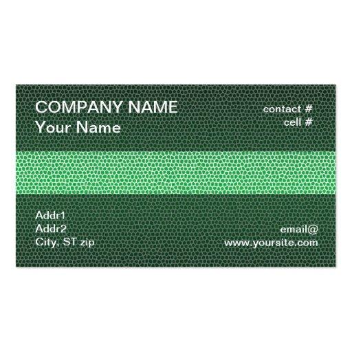 Green mosaic business card