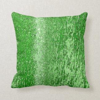 Green mosaic pattern throw pillow
