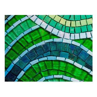 Green Mosaic Postcard