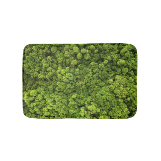Green Moss Background Bath Mat