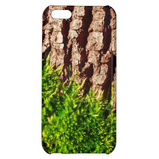 Green Moss on Tree Bark Seasonal Nature Art Case For iPhone 5C