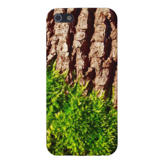 Green Moss on Tree Bark Seasonal Nature Art Case For iPhone 5