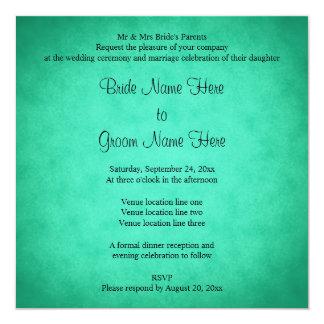 Green Mottled Pattern Wedding Custom Announcements