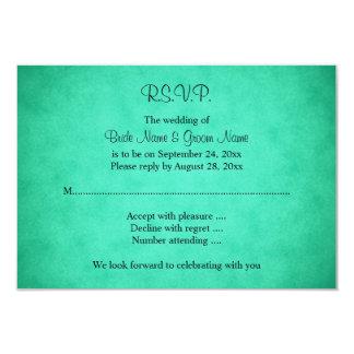 Green Mottled Pattern Wedding Invites