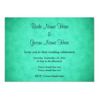 Green Mottled Pattern Wedding Custom Invite