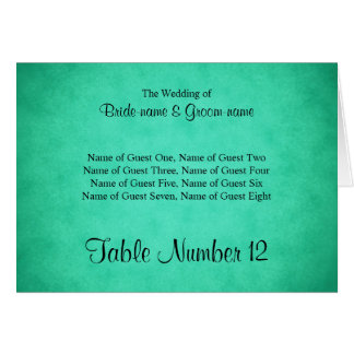 Green Mottled Pattern Wedding Place Cards