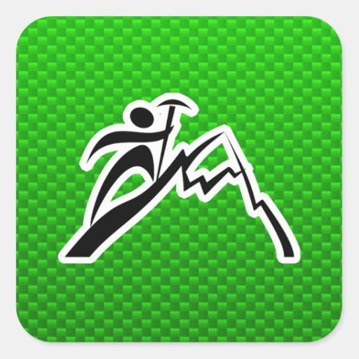 Green Mountain Climbing Stickers
