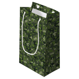 Green mountain disruptive camouflage small gift bag