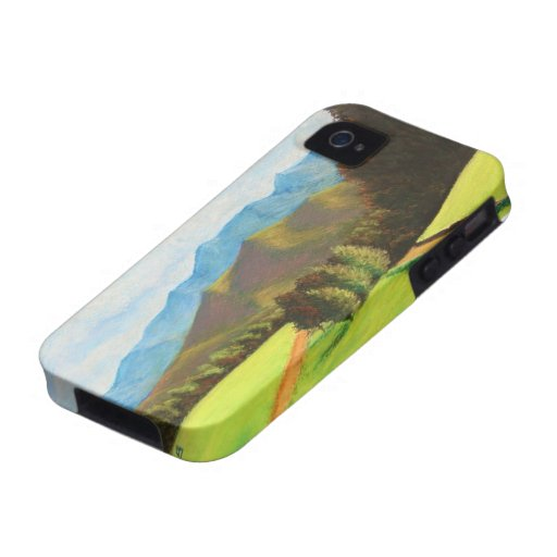 green mountain valley pastel landscape iPhone 4/4S cover