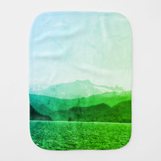 Green Mountains Burp Cloth