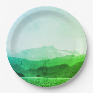 Green Mountains Paper Plates 9 Inch Paper Plate