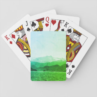 Green Mountains Playing Cards