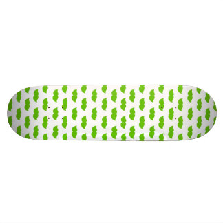 Green Moustaches Skate Board