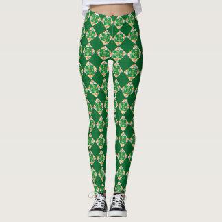 Green Multi-Color Leggings